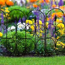 Amagabeli Decorative Garden Fence Outdoor Coated Metal Rustproof