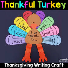 thanksgiving turkey craft by caffeine and kindergarten tpt