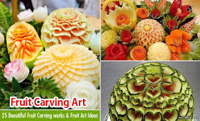 25 beautiful fruit carving works and fruit ideas for your