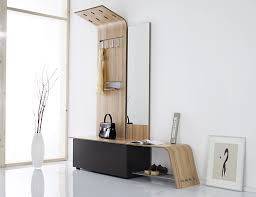 Hallway Shoe Cabinet by Small Modern Entryway Shoe Storage Design Combined With Bench Seat