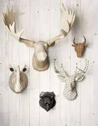 Moose Head Decor Cream U0026 Robins Egg Blue Deer Head Wall Mount Decor U0026 More Misc