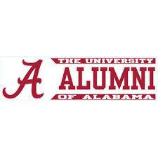 alabama alumni sticker alabama crimson tide 3 x 10 alumni die cut decal wishlist 2017