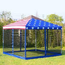 Privacy Pop Bed Tent 10 U0027x10 U0027 Pop Up Wedding Party Tent Canopy Us Flag Gazebo W