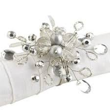 christmas napkin rings table linens pedreria yluces servilleteros pinterest