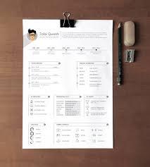 a4 free professional resume template ai file 1 2 mb