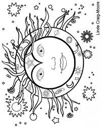 coloring pictures of sun and moon printable coloring pages for