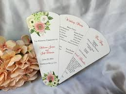 wedding ceremony fan programs floral petal fan wedding program the wedding sophisticate
