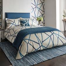 harlequin sumi zig zag bedding in indigo at bedeck 1951