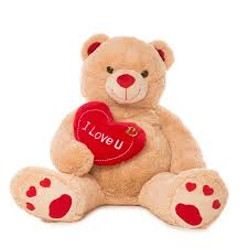 teddy bears jumbo 48 teddy with i you heart walmart