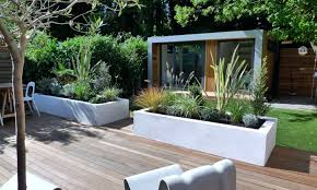 bench privacy deck transitional with wood contemporary outdoor