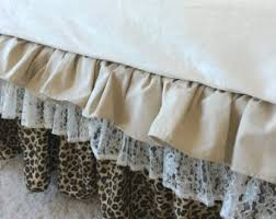 linen crib skirt etsy