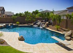 16 u0027x 37 u0027 freeform concrete pool with an 8 u0027 round spa and many