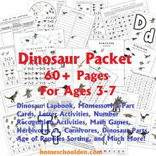 dinosaur packet for 3 7 year olds u2013 dinosaur lapbook montessori