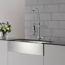 kitchen faucet with soap dispenser kraus kpf 1602 ksd 30ch single handle pull down kitchen faucet