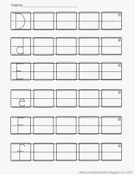 printable kindergarten writing paper with picture box life s journey to perfection preschool practice abc writing preschool practice abc writing worksheet printables
