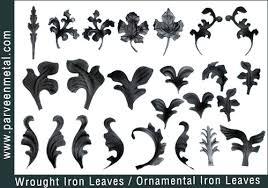 wrought iron leaves ornamentalironhardware s photo