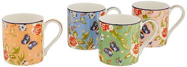 aynsley cottage garden windsor mugs set of 4 amazon co uk