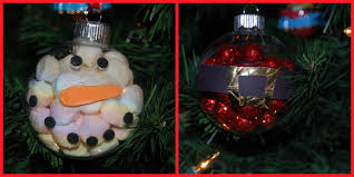 snowman and santa handmade ornament crafts for the