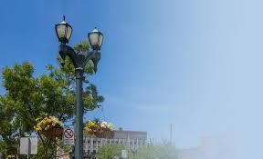 decorative street light poles visco cast iron and steel decorative street lights