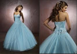 Blue Wedding Dress Blue Corset Wedding Dress With Ball Gown Silhouette Sang Maestro