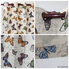 Butterfly Kitchen Curtains Vezo Home Multi Butterfly Linen Finished Window Treatment Curtains