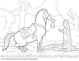 tangled maximus coloring pages getcoloringpages com