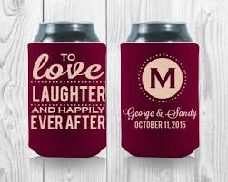 wedding gift koozies to laughter and happily after personalized wedding