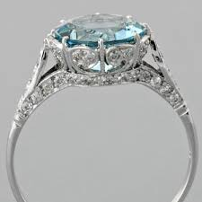 aquamarine and diamond ring aquamarine engagement ring