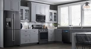 kitchen design white cabinets black appliances samsung black stainless steel appliances modern kitchen