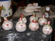 how to make vintage paper clay snowmen ornament modelling paper