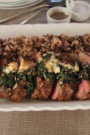 leg of lamb with goat cheese and spinach stuffing emerils com