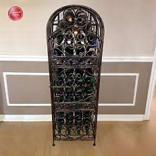 iron free standing wine racks u0026 bottle holders ebay