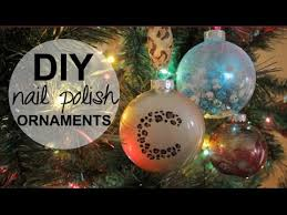 diy holiday ornaments using nail polish youtube