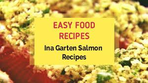 ina garten salmon recipes youtube