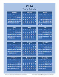 yearly calendar template for 2017 and beyond
