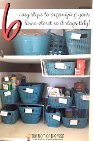 6 easy steps to linen closet organization the mom of the year