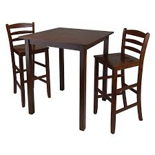 High Bistro Table Amazon Com Winsome Parkland 3 Piece High Table With Ladder Back