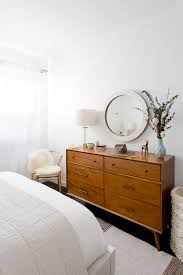 a bedroom fit for parachute s brand marketing social media with our dean sand bed as an anchor and alton cherry dresser as a mid century inspired complement trelawny s vision for a warm neutral bedroom is complete