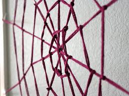 giant yarn spider web hgtv