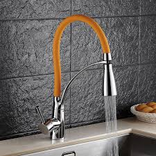 luxury lead led kitchen sink faucet with single handle deck mouted