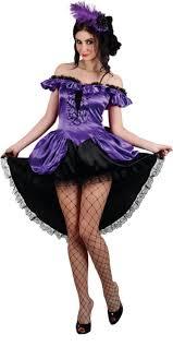 Size Burlesque Halloween Costumes Ladies U0027 Purple Burlesque Saloon Fancy Dress Size