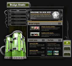 website template 8377 web design studio custom website template