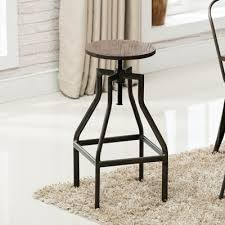 erikc french industrial farmhouse adjustable height swivel counter