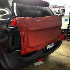 jeep cherokee trailhawk red 2014 jeep cherokee trailhawk wrapped arlon red aluminium vehicle