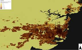 Population Density Map Us Population Densities Of Melbourne And Sydney Id Blog