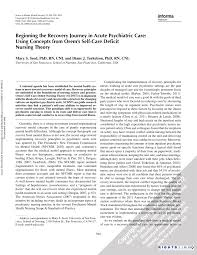 beginning the recovery journey in acute psychiatric care using