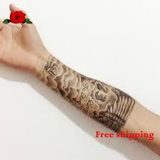 product 2014 new custom david beckham henna tattoo arm printed