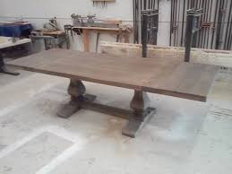 Limed Oak Dining Tables Custom Made Gray Wash Trestle Table W Extensions Available In