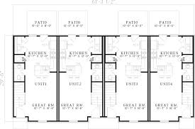 three plex floor plans donoho place 2 story fourplex plan 055d 0401 house plans and more