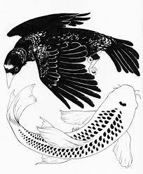 inktober a bird may love a fish by yinza on deviantart